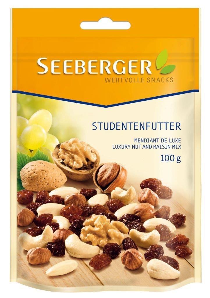 SEEBERGER Mix nuci crude de lux si stafide 100 g