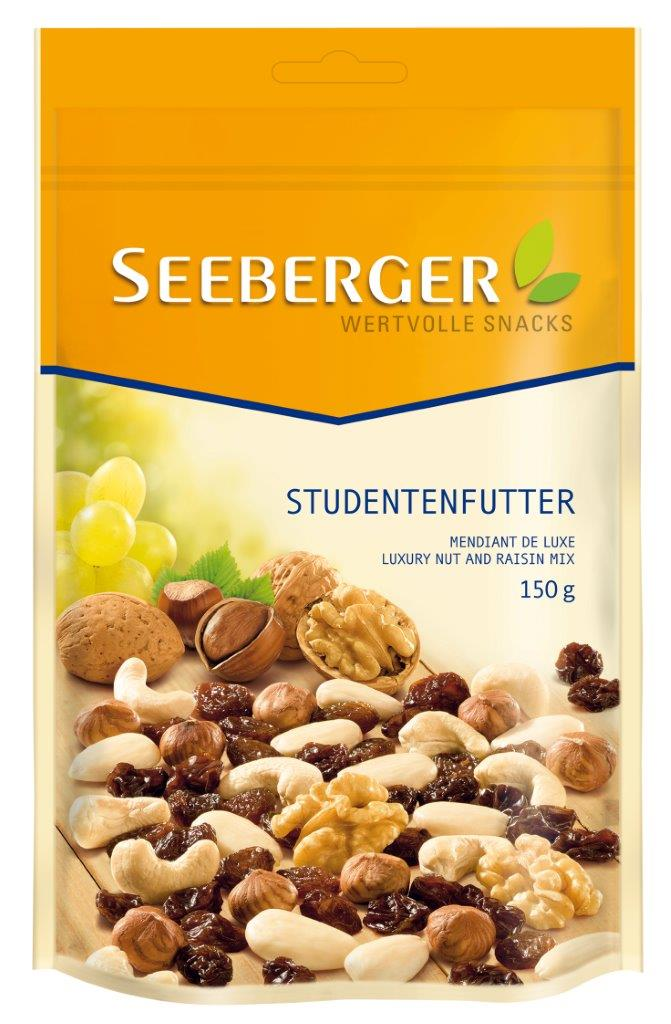 SEEBERGER Mix nuci crude de lux si stafide 150 g