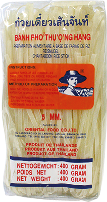 Paste din orez Spaghetti  5 mm 400g