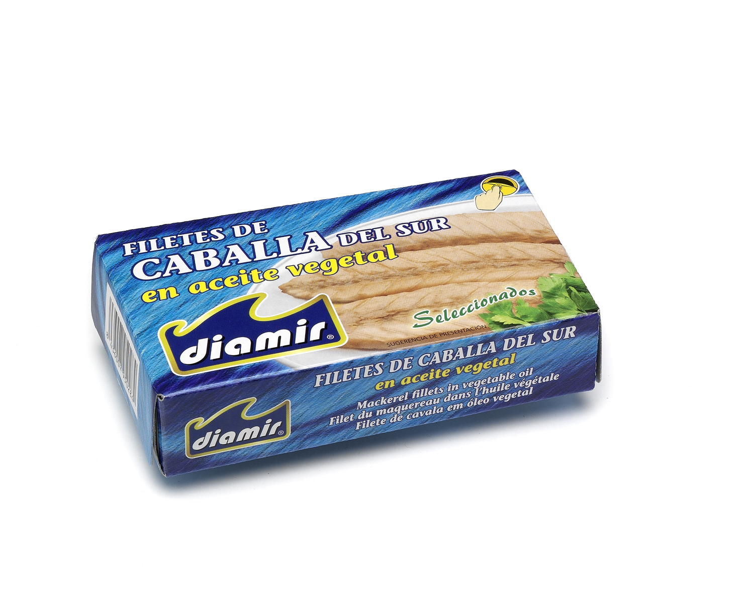 Conserva file macrou in ulei vegetal 90 g DIAMIR